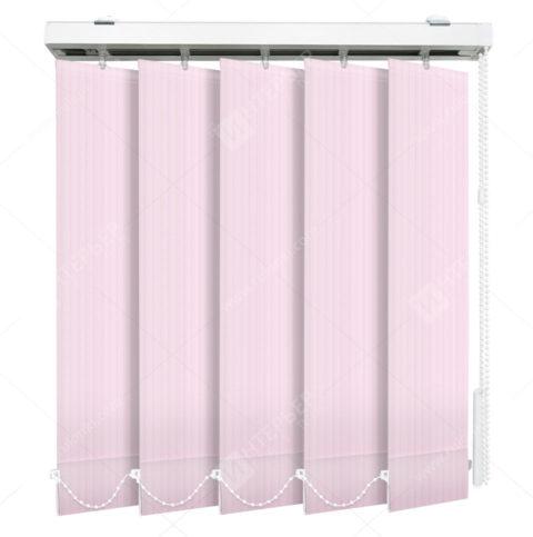 Вертикальные тканевые жалюзи Лайн розовый