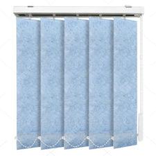 Вертикальные тканевые жалюзи Шёлк морозно-голубой 4137