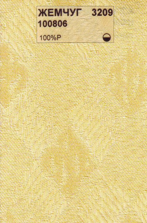 Вертикальные тканевые жалюзи Жемчуг желтый
