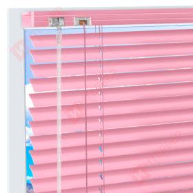 Горизонтальные алюминиевые жалюзи на пластиковые окна - цвет светло-розовый