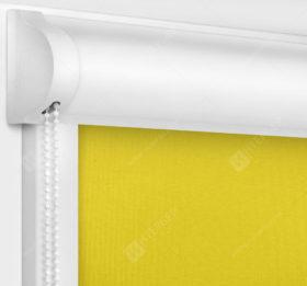 Рулонные кассетные шторы УНИ - Мадагаскар желтый