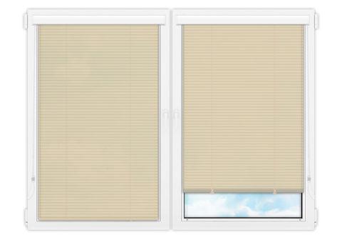Жалюзи Изолайт 25 мм на пластиковые окна - цвет светло-бежевый