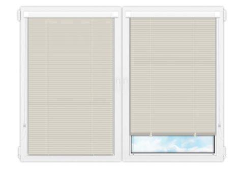 Жалюзи Изотра 25 мм на пластиковые окна - цвет бледно-бирюзовый