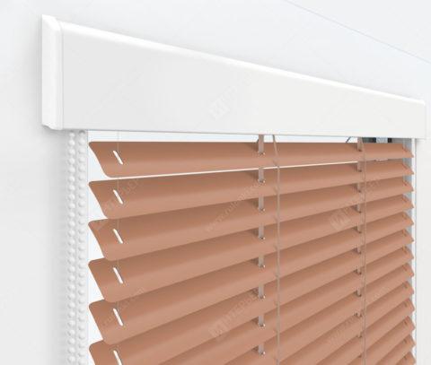 Жалюзи Изолайт 25 мм на пластиковые окна - цвет бледно-персиковый