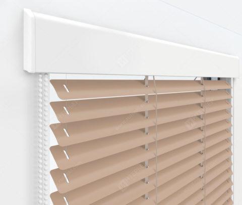 Жалюзи Изолайт 25 мм на пластиковые окна - цвет персиковый