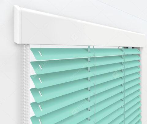 Жалюзи Изолайт 25 мм на пластиковые окна - цвет светло-зеленый