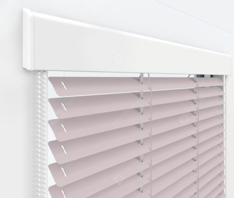 Жалюзи Изолайт 25 мм на пластиковые окна - цвет насыщенный бледно-розовый