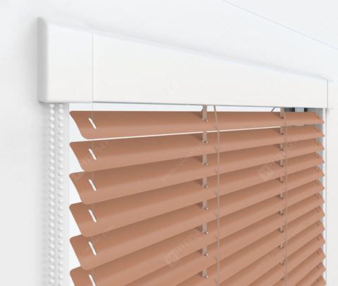 Жалюзи Изотра 25 мм на пластиковые окна - цвет бледно-персиковый