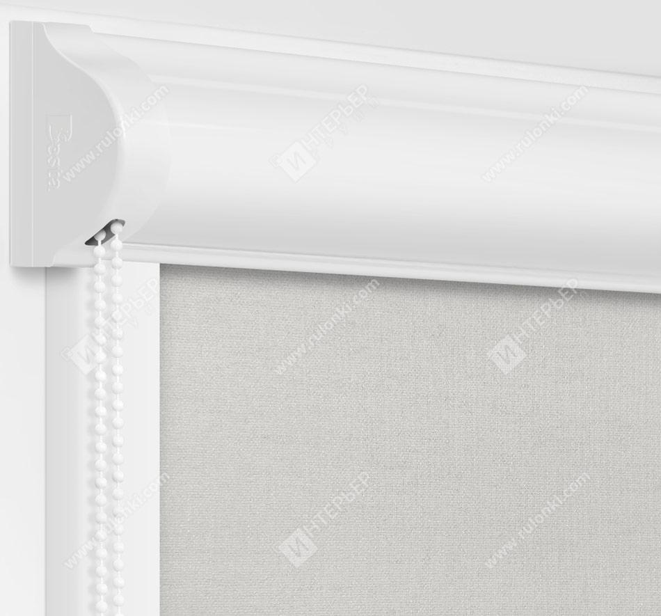 Рулонные кассетные шторы УНИ - Карина блэкаут дымчатый
