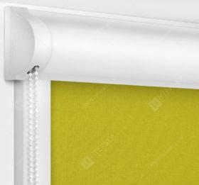 Рулонные кассетные шторы УНИ - Карина блэкаут горчичный