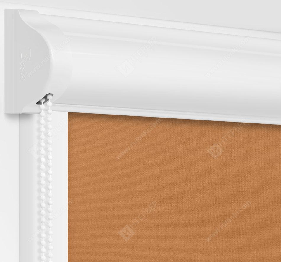 Рулонные кассетные шторы УНИ - Карина блэкаут кофе