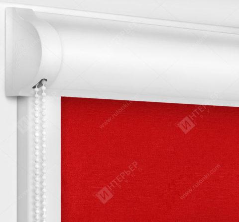 Рулонные кассетные шторы УНИ - Карина блэкаут красный