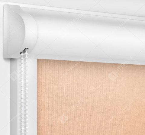Рулонные кассетные шторы УНИ - Карина персиковый