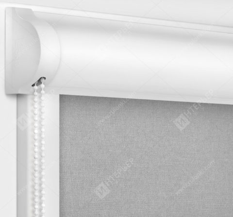 Рулонные кассетные шторы УНИ - Карина блэкаут серый