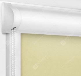 Рулонные кассетные шторы УНИ - Карина сливочный