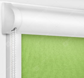 Рулонные кассетные шторы УНИ - Карина светло-зеленый