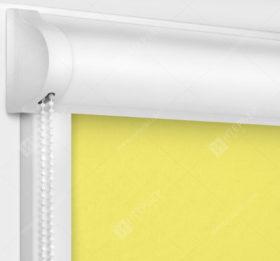 Рулонные кассетные шторы УНИ - Карина блэкаут светло-желтый
