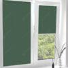 Рулонные кассетные шторы УНИ - Карина темно-зеленый