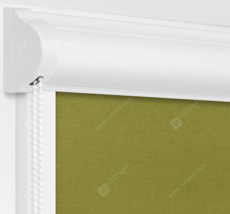Рулонные кассетные шторы УНИ - Карина зеленый