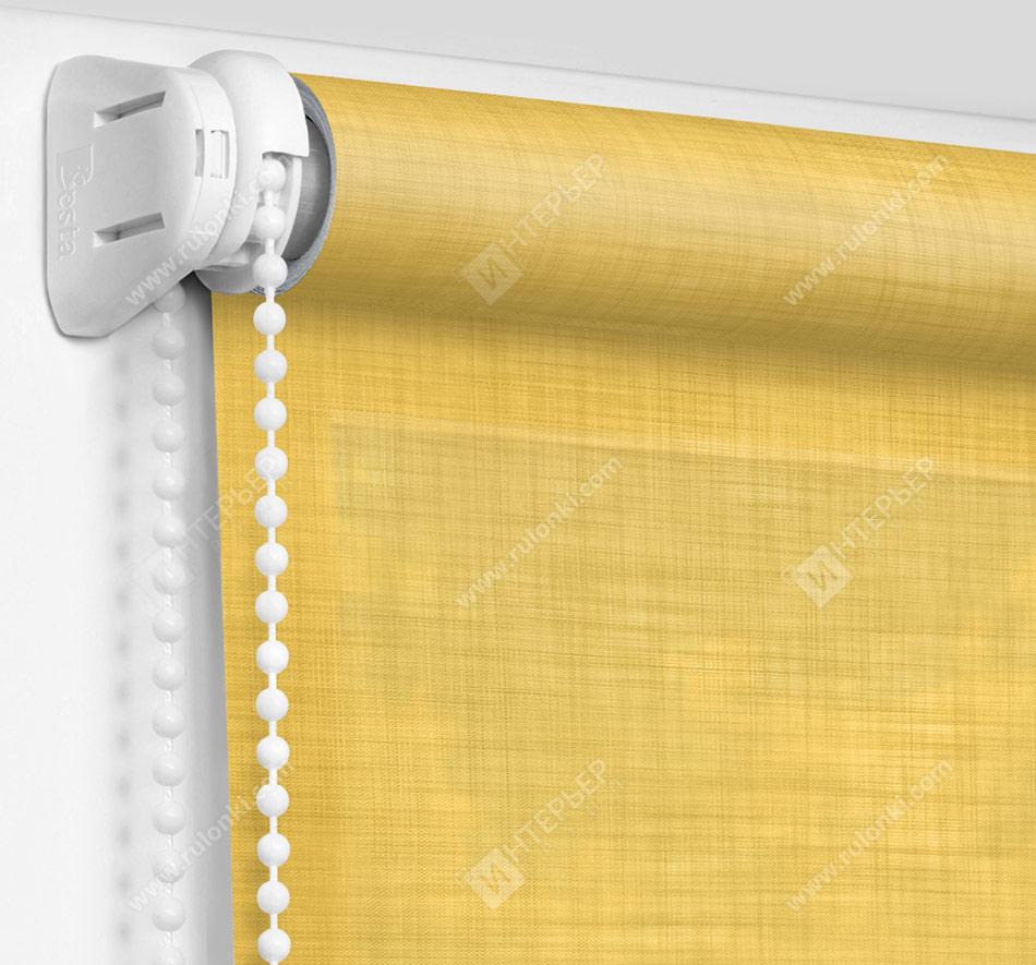 Рулонные шторы Мини - Анже горчичный