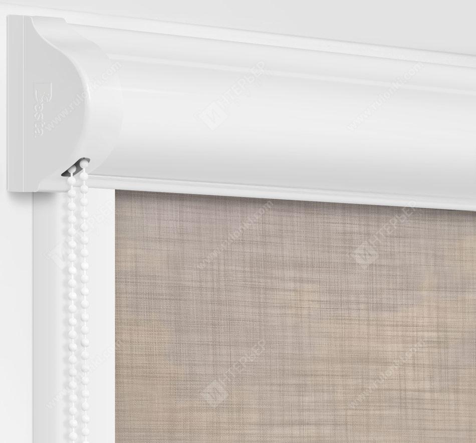 Рулонные кассетные шторы УНИ - Анже светло-серый