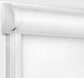 Рулонные кассетные шторы УНИ - Аруба белый