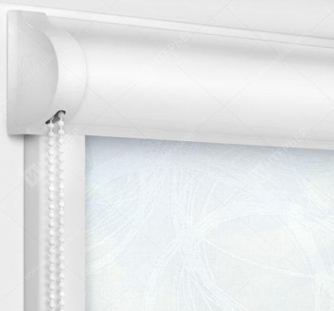 Рулонные кассетные шторы УНИ - Эклипс белый