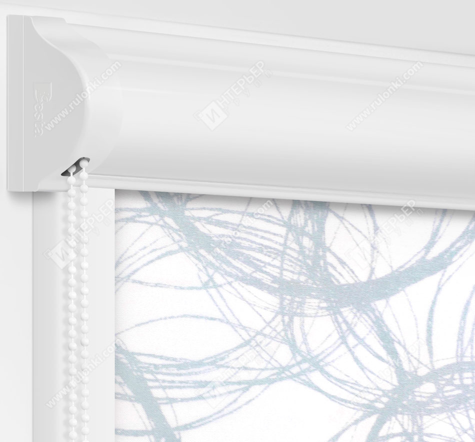 Рулонные кассетные шторы УНИ - Эклипс серый