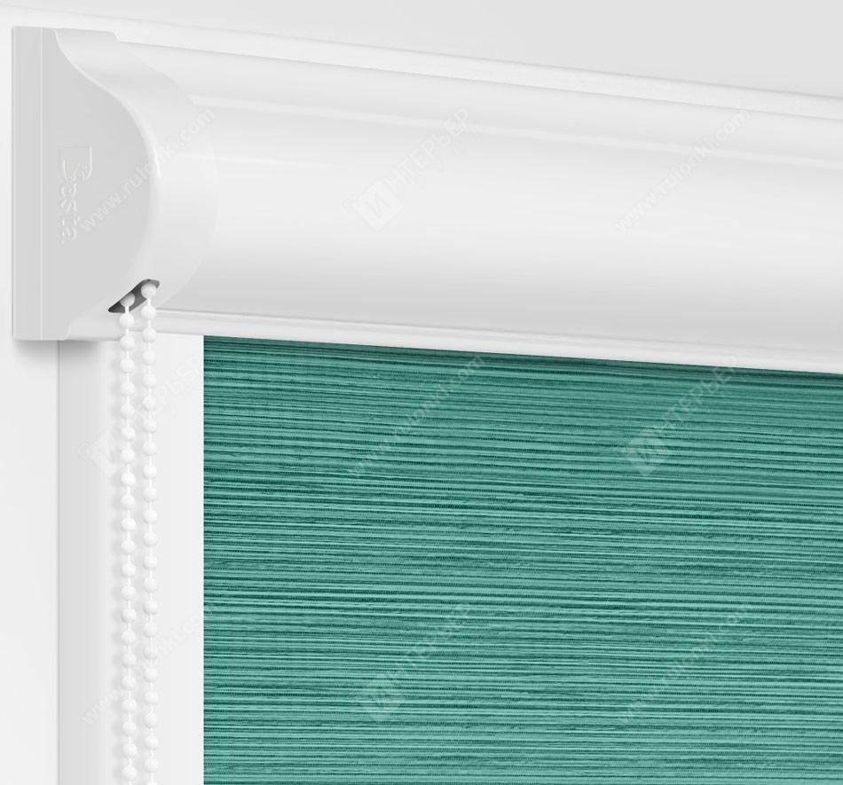 Рулонные кассетные шторы УНИ - Корсо аквамарин