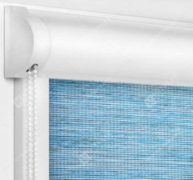 Рулонные кассетные шторы УНИ - Корсо голубой