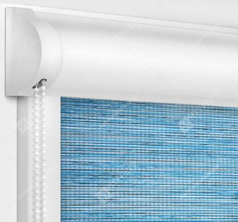 Рулонные кассетные шторы УНИ - Корсо блэкаут голубой