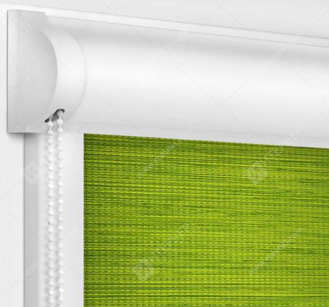 Рулонные кассетные шторы УНИ - Корсо блэкаут зеленый