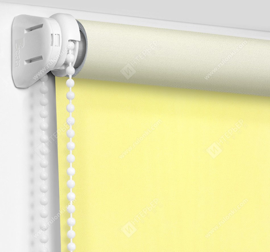 Рулонные шторы Мини - Аллегро перл желтый