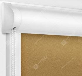 Рулонные кассетные шторы УНИ - Куба коричневый