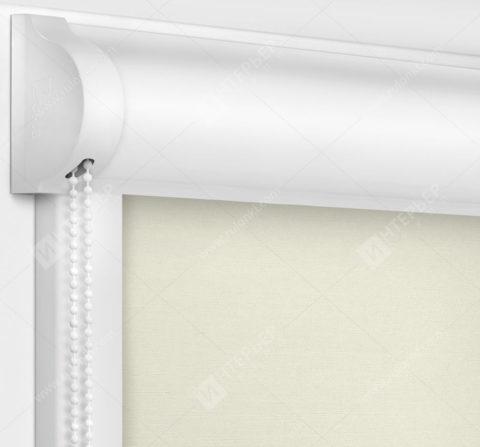 Рулонные кассетные шторы УНИ - Лусто белый