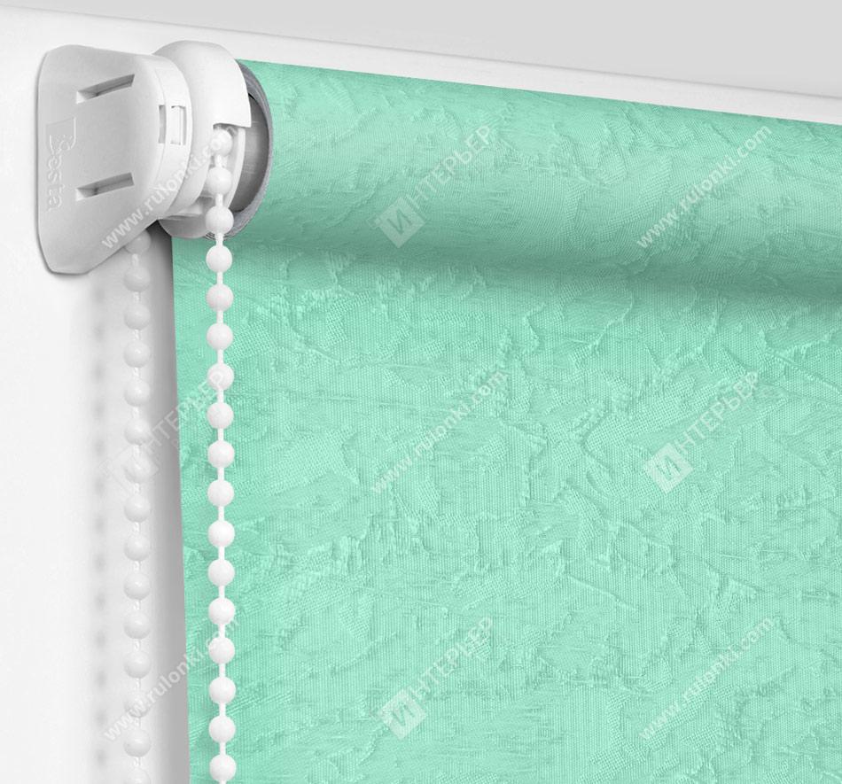 Рулонные шторы Мини – Шелк бирюзовый