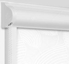 Рулонные кассетные шторы УНИ - Ницца белый на пластиковые окна