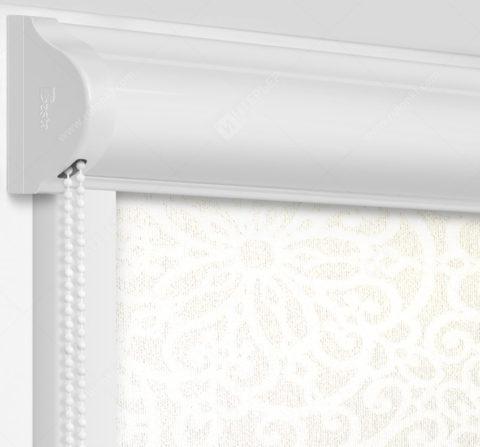 Рулонные кассетные шторы УНИ - Риано белый на пластиковые окна