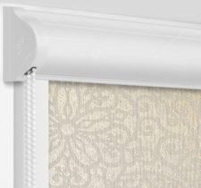 Рулонные кассетные шторы УНИ - Риано кофейный на пластиковые окна