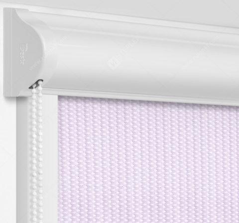 Рулонные кассетные шторы УНИ - Севилья розовый на пластиковые окна