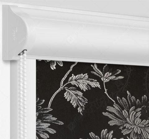 Рулонные кассетные шторы УНИ - Сиена черно-серый на пластиковые окна