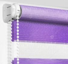 Рулонные шторы День-Ночь - Модена фиолетовый 57