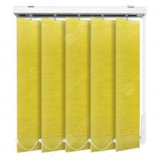 Вертикальные тканевые жалюзи Бруклин желтый