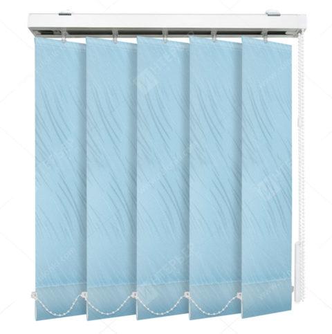Вертикальные тканевые жалюзи Каприз голубой