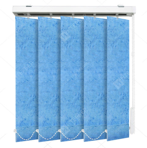 Вертикальные тканевые жалюзи Шёлк голубой