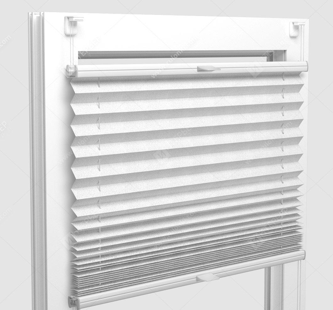 Шторы Плиссе - Аскона белый на пластиковые окна