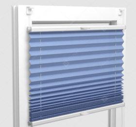 Шторы Плиссе - Аскона голубой на пластиковые окна