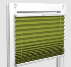 Шторы Плиссе - Аскона лайм на пластиковые окна