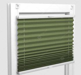 Шторы Плиссе - Аскона зеленый на пластиковые окна
