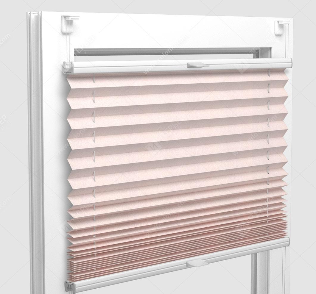 Шторы Плиссе - Димаро светло-розовый на пластиковые окна